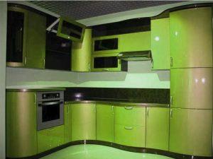 Кухня с крашеным фасадом под заказ