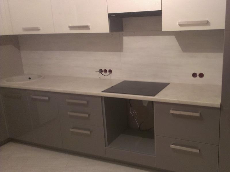 Кухня с крашеным фасадом 6
