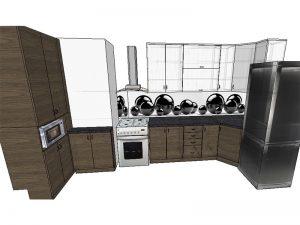 П-образная кухня 4